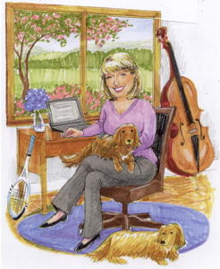 Cartoon of Alice McVeigh...</p> <div class=