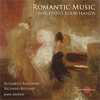 Romantic Music for Piano Four-Hands. Elizabeth Buccheri and Richard Boldrey, piano duettists. © 2009 Cedille Records