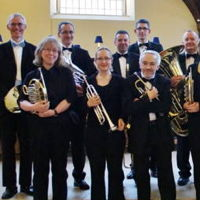 Members of Derventio Brass in Derby Cathedral in 2016