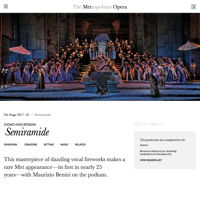 Revival of John Copley's production of 'Semiramide' at New York Metropolitan Opera, 19 February-17 March 2018