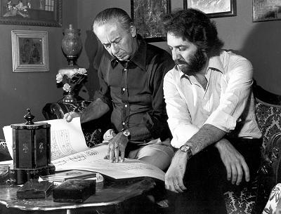 Luciano Chailly with his son Riccardo Chailly