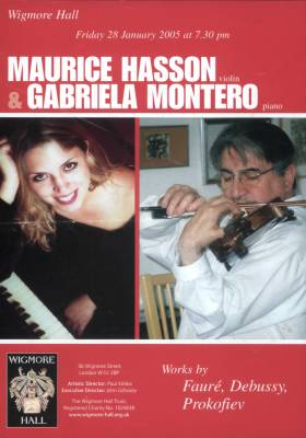 Wigmore Hall - Friday 28 January 2005 - Maurice Hasson and Gabriela Montero - works by Fauré, Debussy and Prokofiev