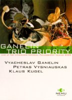 Ganelin Trio Priority - live at the Lithuanian National Philharmony Vilnius 2005. Vyacheslav Ganelin, Petras Vysniauskas, Klaus Kugel. © 2006 Nemu Records