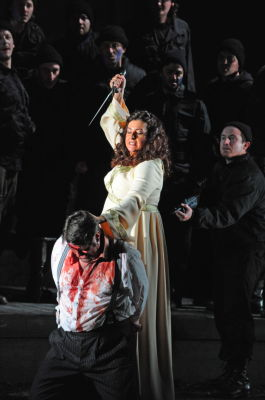 Claire Rutter as Norma, John Hudson as Pollione in Norma, Grange Park Opera 2009