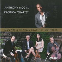 Mozart and Brahms Clarinet Quintets - Anthony McGill, Pacifica Quartet. © 2014 Cedille Records (CDR 90000 147)