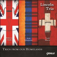 Trios from our Homelands - Lincoln Trio. © 2016 Cedille Records (CDR 90000 165)
