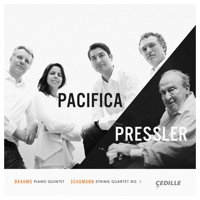 Pacifica/Pressler - Brahms: Piano Quintet; Schumann: String Quartet No 1. © 2017 Cedille Records (CDR 90000 170)