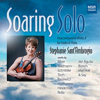 Soaring Solo - Unaccompanied Works II for Violin and Viola. © 2016 Stephanie Sant'Ambrogio (MS 1627)