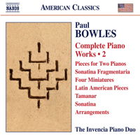 Paul Bowles: Complete Piano Works 2. © 2016 Naxos Rights US Inc (8.559787)