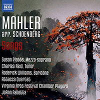 Mahler arr Schoenberg: Songs. © 2016 Naxos Rights US Inc (8.573536)