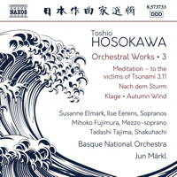 Toshio Hosokawa Orchestral Works 3. © 2018 Naxos Rights US Inc (8.573733)