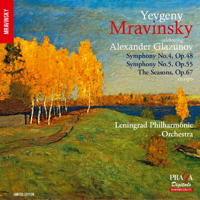 Glazunov: Symphonies Nos 4 and 5; The Seasons (excerpts). © 2016 AMC Paris (PRD/DSD 350 129)