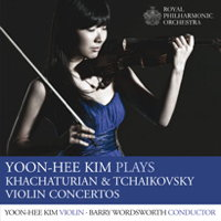 Yoon-Hee Kim plays Khachaturian and Tchaikovsky Violin Concertos. © 2013 Royal Philharmonic Orchestra (RPO SP 046)