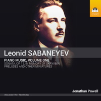 Leonid Sabaneyev: Piano Music, Volume One. © 2015 Toccata Classics (TOCC 0308)