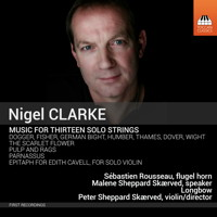 Nigel Clarke: Music for Thirteen Solo Strings. © 2015 Toccata Classics (TOCC 0325)