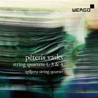 Peteris Vasks: String Quartets 1, 3 and 4. © 2016 WERGO (WER 7330 2)
